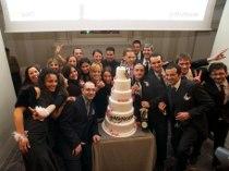 Team di LeMieNozze.it durante il taglio della torta