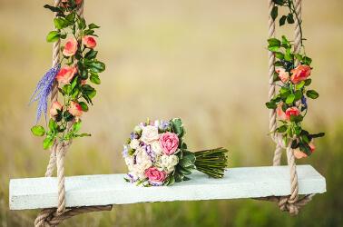 Bouquet di nozze con peonie