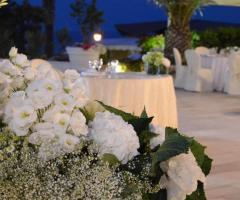 Allestimento floreale white