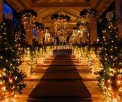 Gioco di luci per il  matrimonio