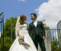 Fotografia degli sposi dopo la cerimonia nuziale