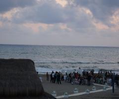 Cerimonia di nozze sulla spiaggia a Maccarese