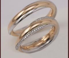 Biffi Gioielli - Fedi in oro rosso con linea in oro bianco