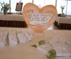 Bomboniere e tableau per le nozze