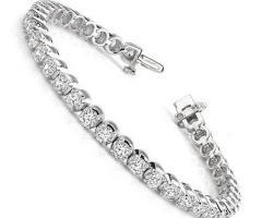 Bracciale argento con brillantini