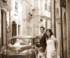 Fotografia degli sposi dopo la cerimonia