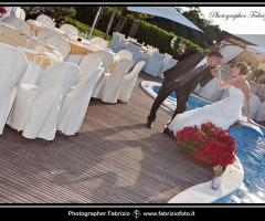 Fabrizio Foto - Gli sposi a bordo piscina