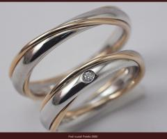 Biffi Gioielli - Fedi in oro bianco e rosso con diamantino
