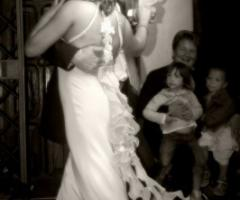 Foto degli sposi durante la festa di nozze