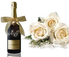 Champagne personalizzato per il brindisi di matrimonio