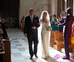 Fotografia dell'arrivo della sposa