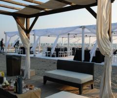 Zona relax per gli ospiti al matrimonio