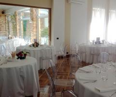 Interni della villa per il matrimonio