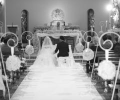 Cerimonia di matrimonio con un allestimento originale