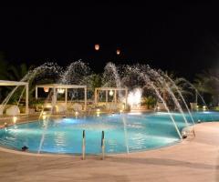 Giochi d'acqua della piscina della location