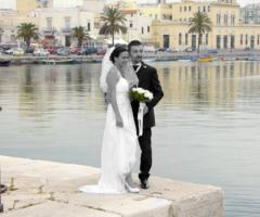 Foto degli sposi durante il matrimonio