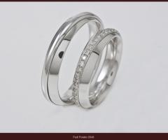 Biffi Gioielli - Fedi in platino con brillantini