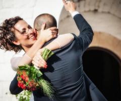 Fotografia della felicità degli sposi