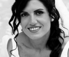 Foto della sposa in bianco e nero