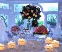 Composizioni di ghiaccio per i tavoli delle nozze