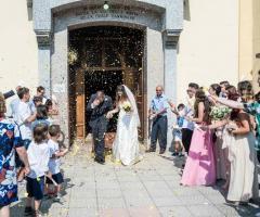 Simone Gavana Foto - L'uscita dalla chiesa