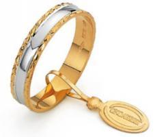 Fedina classica Unoaerre in oro giallo e argento
