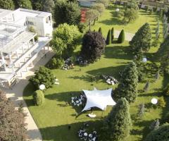 Vista dall'alto su Villa Giacomelli