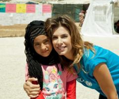 Elisabetta Canalis in Libano per l'UNICEF
