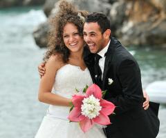 Foto in stile reportage degli sposi