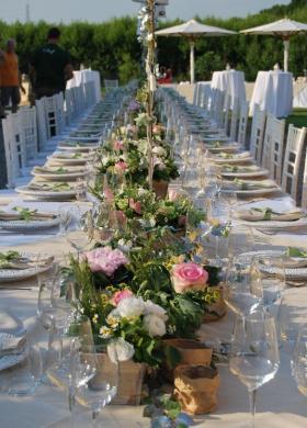 Fiori per il tavolo imperiale
