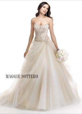 Abito da sposa con corpetto ricamato e gonna liscia - Mod. Rosabel Maggie Sottero