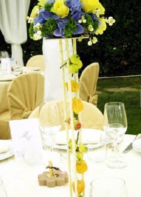 Centrotavola particolare per i tavoli del matrimonio
