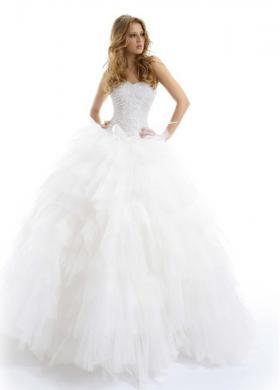 Vestito da sposa con bustier gioiello e gonna ampia - Modello Stella
