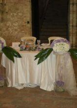 Centrotavola originali per il tavolo degli sposi