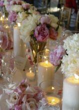 Fiori e candele per il matrimonio