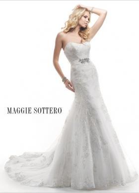 Abito da sposa con ricami e cinta gioiello - Mod - Palartzo Maggie Sottero