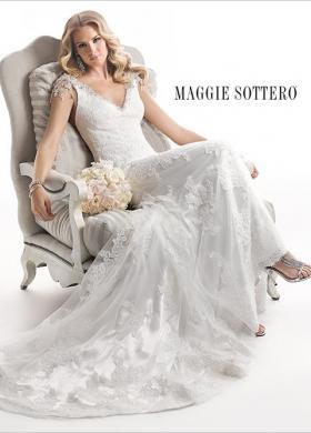 Abito da sposa con spalline cadenti gioiello - Mod. Cynthia Maggie Sottero