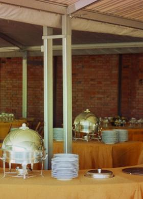 Decorazioni di frutta per il tavolo del buffet
