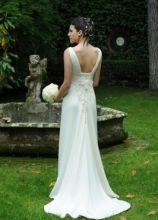 Vestito per la sposa con la schiena scoperta