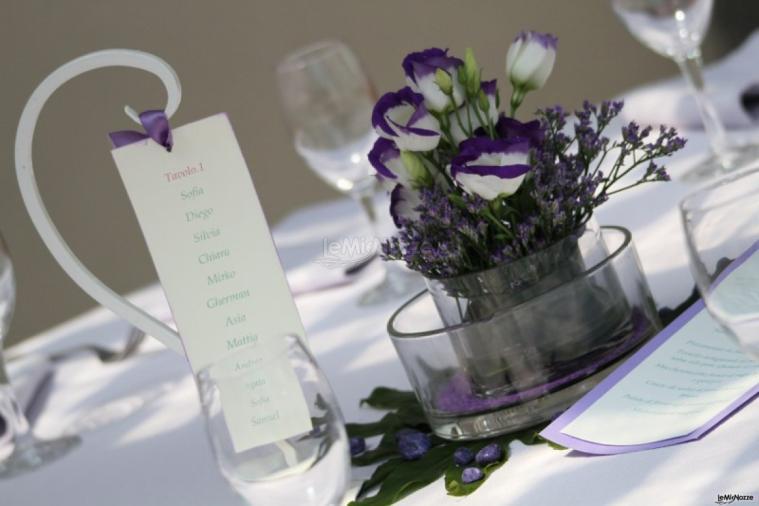Matrimonio In Viola : Foto centrotavola matrimonio semplicità in viola
