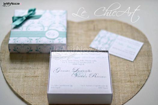 Partecipazioni Matrimonio Azzurro Tiffany : Partecipazioni di matrimonio blu tiffany le chicart