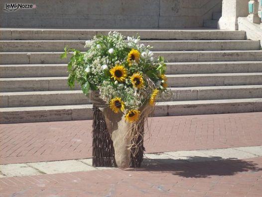 Girasoli Matrimonio Chiesa : Foto addobbi floreali chiesa e cerimonia decorazioni