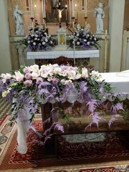 Matrimonio In Lilla : Foto addobbi floreali chiesa e cerimonia