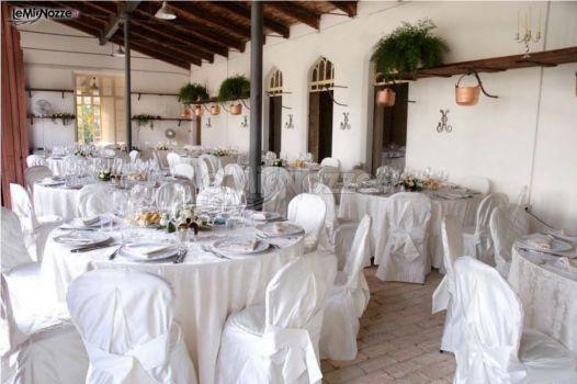 Matrimonio In Total White : Foto addobbi floreali location matrimonio total