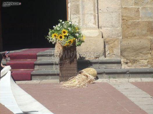Composizioni Con Girasoli Matrimonio : Foto addobbi floreali chiesa e cerimonia decorazione
