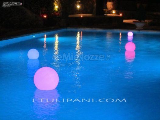 Foto 1 addobbi floreali location allestimento della for Addobbi piscina per matrimonio