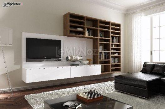 Soggiorno moderno con libreria per la lista nozze - Gruppo MIR - Arredamento ...