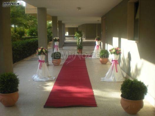 Foto 1 matrimonio in rosa addobbo floreale per la casa della sposa - Addobbi matrimonio casa della sposa ...