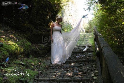 Abito da sposa con strascico lungo - Modello Cenerentola Collezione Princesses