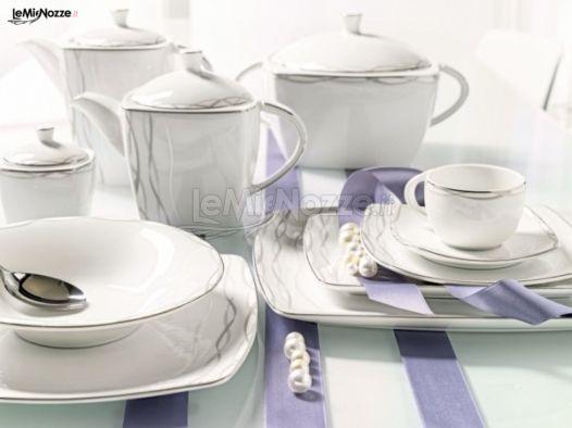 Servizio piatti quadrati kasanova